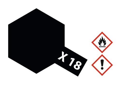 Acryl-Farbe X18 schwarz, seidenmatt 23 ml