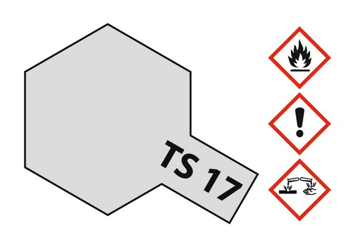 Acryl-Spray-Farbe TS 17 Aluminium glänzend 100 ml