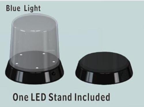Display, gewölbter Deckel, 84x115, mit LED-Bel.