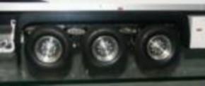 MM-Alufelgensatz für Tamiya Kühlkoffer, Rundloch