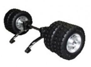Tiefladerachse für TAM, mit MM-Reifen doppelt, neu, nur noch 3 Stück