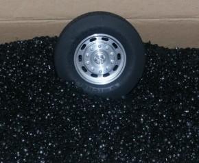 Kunststoffgranulat zum Baggern, schwarz, ca 3 kg