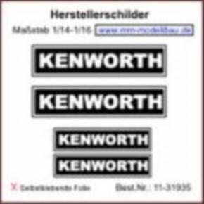 Herstellerschilder, Kenworth, 4 Stück Chrom