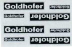 Herstellerschilder, Goldhofer, 8 Stück Silber