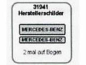 Herstellerschilder, Mercedes-Benz, 4 St. grau