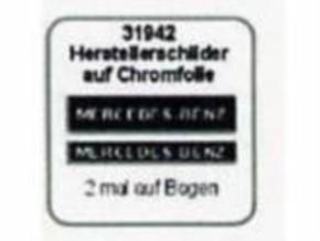 Herstellerschilder, Mercedes-Benz, 4 Stück