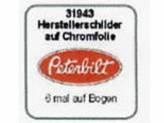 Herstellerschilder, Peterbilt, 6 Stück Chrom