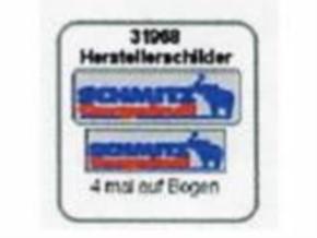 Herstellerschilder Schmitz-Cargobull  4 Stück