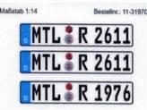 Euro-Kennzeichen D, Text nach Wahl, Zugmaschine