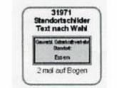 Standortschilder, Text nach Wahl, 2 Stück