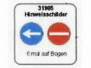 Hinweisschilder  links-vorbei und Einbahnstraße,