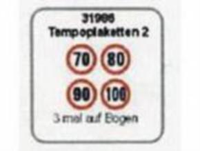 Temopoplaketten 2: 70 80 90 100 je 2 Stück