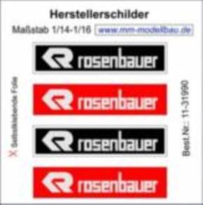 Herstellerschilder, Rosenbauer, 4 Stück chrom