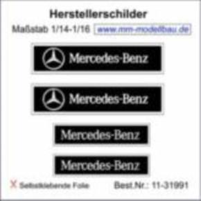 Herstellerschilder, Mercedes-Benz, 4 St. chrom