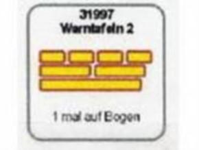 Warntafeln 2, rot-gelb, verschieden groß, 7 Stück