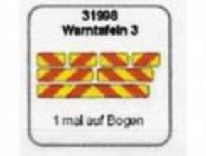 Warntafeln 3, rot-gelb schräggestreift, 7 Stück