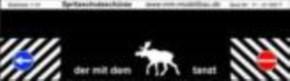 Spritzschutzschürze, der mit dem Elch tanzt