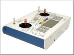 Handsender 12 Kanal, 2,4 GHz, weiß-blau