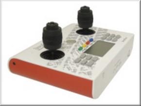 Handsender 12 Kanal, 2,4 GHz, weiß-rot mit 3-D-Knüppeln
