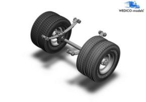 Hinterachse fürStandard-Fahrgestelle zwillingsbereift