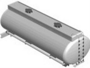 Tankauflieger oval, poliert, für 3-Achs-Anhänge