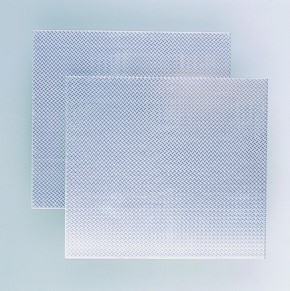 2 Riffelbleche 170 x 190 x 1,2 mm