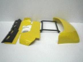 Dachspoiler mit Windleitblechen für Scania CR19,
