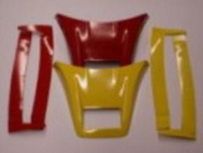 Dachspoiler mit Windleitblechen MAN TGX XLX, gelb