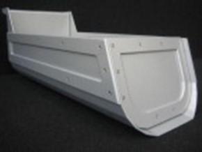Muldenaufbau HP für Frontlenker, silber