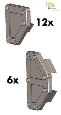 Eckverbinder 5mm für thicon Schwerlastturm