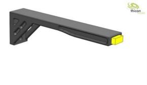Begrenzungsleuchten LED gelb mit Halter 2 Stück