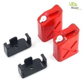 Benzinkanister rot 2 Stück mit Halter