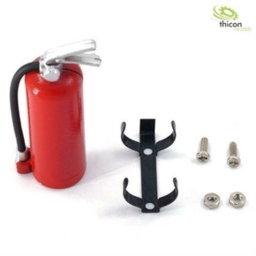 Feuerlöscher rot mit Halter aus Metall
