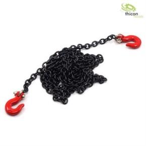 Haken rot Metall mit Kette schwarz 96cm lang