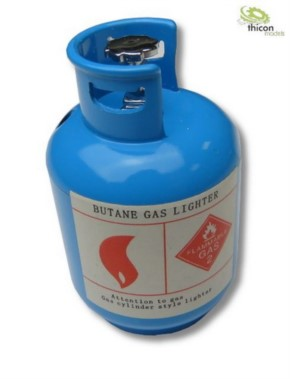 Propangasflasche aus Metall blau