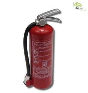 Feuerlöscher mit Aufkleber rot mit Halter
