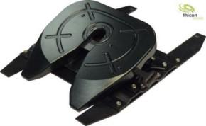 Sattelplatte Metall schwarz mit 2-Achs-Lagerung