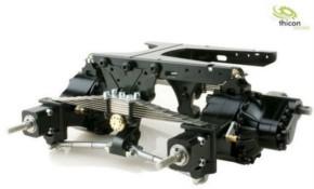 Pendelfederung V2 hinten Alu schwarz für Differenziale