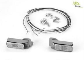 Rückleuchten mit Metallhalter und LEDs für Baumasc