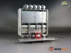 Schwerlastturm V8 Scania Edelstahl mit Türen unlackiert