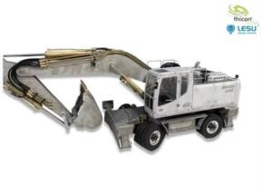Mobilbagger 4x4 mit Abstützung Bausatz unlackiert