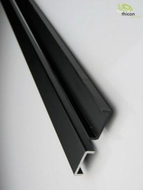Rahmen Alu schwarz 650mm ungebohrt 2 Stück