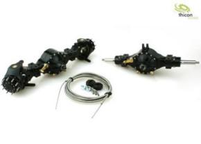 4x4 Achspaket sperrbar Metall schwarz 3:1