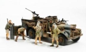 brit. LRDG Befehlswagen mit 7 Figuren