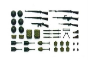 WWII US Infant. Waffen Diorama-Set