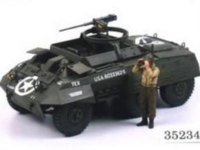 WWII US M20 Spähpanzer m. 2 Figuren