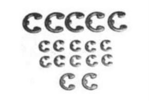 E-Ring-Set, 12 x 2mm, 7 x 4 mm, ...