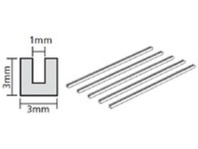 U-Profil 3x3mm (5) 400mm klar Kst.