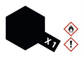 Acryl-Farbe X1 schwarz, glänzend 23 ml