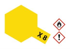 Acryl-Farbe X8 Zitronen-gelb, glänzend 23 ml